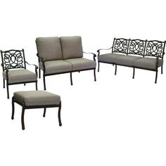 Darlee Florence 6-person Cast Aluminum Deep Seating Patio Conversation Set - Antique Bronze by Darlee. $1494.35. Set Includes: Sofa, Loveseat, Lounge Chair, Ottoman, Sesame-Colored Polyester Cushions. Cast aluminum construction promotes rust resistance. Relax more comfortably with polyester seat cushions. Lightweight aluminum frame makes rearranging your furniture easy. Antique bronze powder coating is tougher than conventional paint finishes. Darlee Florence 6-Pe...