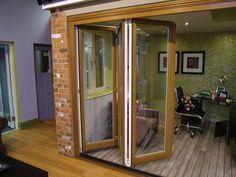 Aluminium Bi-Folding doors by Kingfisher Windows.