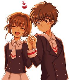 syaoran y sakura manga version. Aha, looks like upper class school Cardcaptor Sakura, Syaoran, Sakura Sakura, Anime Couples, Cute Couples, Manga Anime, Anime Kiss, Sakura Card Captors, Cosplay Anime