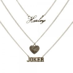 Suicide Squad Necklace - Harley Heart Joker @Archonia_US