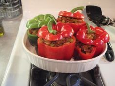 paleo stuffed peppers!