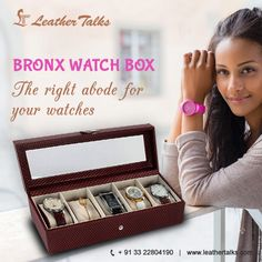Have you ever thought of storing your precious watches in a grandiose manner? The BRONX watch box is constructed with fine leather and has five extremely soft padded separate slots to store your watches safely.  #brickcherryleatherbox #lockfacility  http://leathertalks.com/product/bronx-watch-box3/