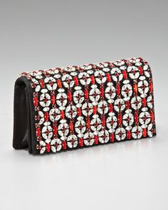 Raso Jeweled Clutch by Prada at Neiman Marcus.
