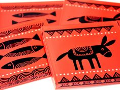 Fishes & donkey | Plexiglass coasters | screenprinted & lazer cutted | 10 x 10 x 0.8 cm