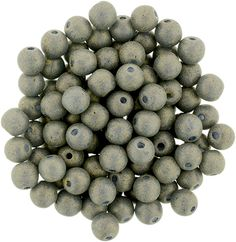 5-04-PS1007 Round Beads 4mm : Pacifica - Poppy Seed