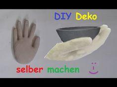 DIY - Betonhand Hand aus Beton oder Gips mit Einmalhandschuh ...