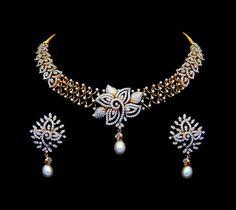 Diamond Necklaces / Chokers - Diamond Jewelry Diamond Necklaces / Chokers (NK0330ER2502) at USD 7,006.88