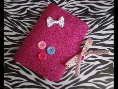 Capa para caderneta com eva glitter