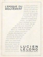 """Lucien Lelong (Couture) 1926 La silhouette """"Kinétique"""""""