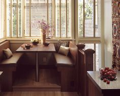 Kitchen, Breakfast or Dining Room Banquette Bench Booth or Nook Seating NYC Custom Made or Built-in New York City & Brooklyn NY