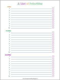 Get Your Priorities Straight! A Free Printable to Help You Stay on Track Organizing Life, Life Organization, Life Priorities, Stay On Track, Love Your Home, Free Printables, Posts, Blog, Cards