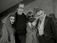 The Munsters with Lily's brother Lester, the Wolf Man.great show! The Munsters, Munsters Tv Show, Munsters Grandpa, Munsters House, Old Tv Shows, Movies And Tv Shows, La Familia Munster, 1313 Mockingbird Lane, Theater