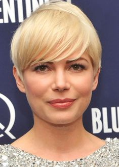 Short Hairstyles for Round Face 2012: Michelle Williams Short Thin Hairstyles for Round Face