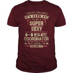 I Never Dreamed, I'd Grow Up To Be A Super Sexy HSE Coordinator T-Shirt, Hoodie HSE Coordinator