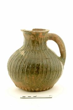 jug Production date: Early Medieval; late century Measurements: H 244 mm; DM (girth) 224 mm click now for info. Ancient English, Archaeological Discoveries, Antique China, Antique Glass, Free Museums, London Museums, Medieval Life, Historical Artifacts, Vintage Pottery