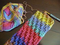 Crochet Woven Scarf Pattern in Bernat Mosaic