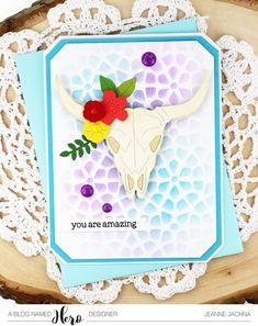 A Kept Life: Hero Arts Summer Catalog Blog Hop! #western #skull #amazing #okeefe #die #skull #card #cardmaking #papercrafting #diycard #card