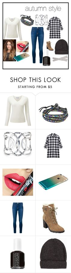 """autumn style"" by ani-madeleine on Polyvore featuring AeraVida, Fiebiger, Frame Denim, Ivanka Trump, Essie, Pieces, Free People, women's clothing, women and female"