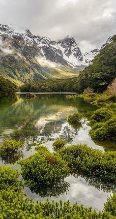 Lake Mackenzie, Routeburn Track, Fiordland National Park, New Zealand