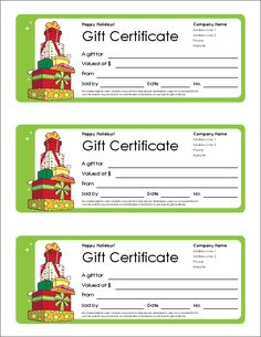 Best Printable Gift Certificates Images On Pinterest Free - Wording for gift certificate template