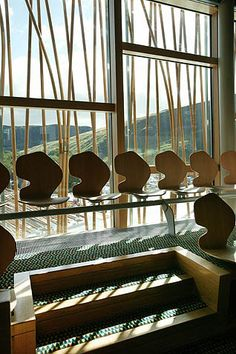 AD Classics: Scottish Parliament Building,Custom seating. Image © Scottish Parliamentary Corporate Body - 2012