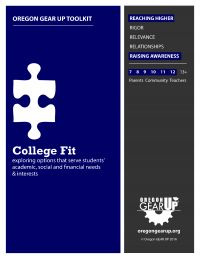 """College Fit Toolkit - resources and activities for middle school through grade students to explore the importance of finding a good college """"fit"""" 5 Rs, Oregon State University, College Planning, College Fun, Raising, Middle School, Students, Activities, Explore"""