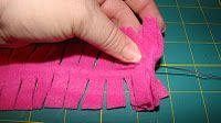 How to make a fleece pom pom - step 1