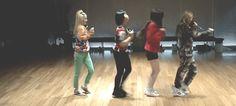 [GIF] 2NE1 - Dance Practice