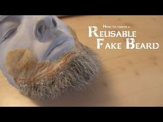 Usually you glue crepe wool directly to your face to create the look of having a beard. But with this method you are not able to reuse your beard. We are goi. Cosplay Tutorial, Cosplay Diy, Cosplay Makeup, Beard Wig, Vintage Hairstyles, Wig Hairstyles, Beard Makeup, Fake Beards, Hair