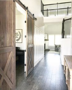 Charming Old House Ideas Look Stunning For Your Home - Decoration İdeas Hallway Designs, Hallway Ideas, Door Ideas, Barn Living, Interior Barn Doors, Farmhouse Interior Doors, Farmhouse Design, Modern Farmhouse, Farmhouse Decor