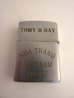 Zippo Lighter 1966-67 Souvenir Vietnam War