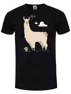 Llama Men's T-shirt, Black
