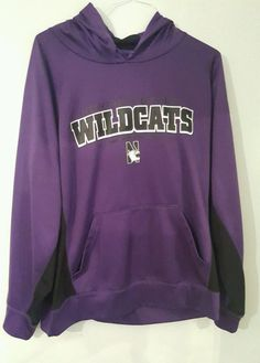 bc993bbb3 NORTHWESTERN WILDCATS FOOTBALL PULLOVER HOODIE PURPLE SWEATER SIZE L LARGE   Unbranded  NorthwesternWildcats Purple Sweater