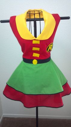 Robin Inspired Vintage Style Apron MTO on Etsy, $55.00