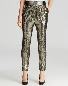Alice + Olivia Pants - Sequin Gathered | Bloomingdale's
