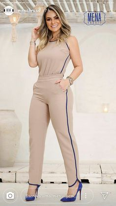 Pin by Demetrius Keyes on Casual work outfits in 2019 Casual Work Outfits, Classy Outfits, Chic Outfits, Trendy Outfits, Fashion Pants, Girl Fashion, Fashion Dresses, Actrices Sexy, Pinterest Fashion