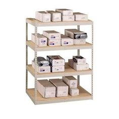"Penco Double Rivet 84"" H 3 Shelf Shelving Unit Starter Size: 84"" H x 72"" W x 24"" D"