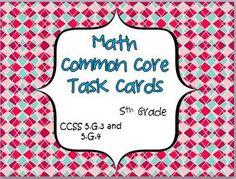 Math Common Core Task Cards 5th Grade CCSS 5.G.3 and 5.G.4 2-D Shapes - Jennifer Findley - TeachersPayTeachers.com