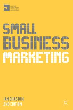 Small Business Marketing book cover ©Palgrave Macmillan