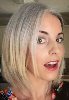 growing out gray hair. Silver Haired Beauties, Silver White Hair, Grey Hair Inspiration, Gray Hair Growing Out, Salt And Pepper Hair, Going Gray, Great Hair, Hair Hacks, Dyed Hair