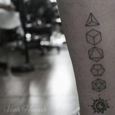 """I didn't do the bottom tattoo. #platonic #solids Vhuynh2911@gmail.com…"""