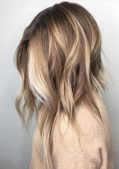 Hair Color 2018, Ombre Hair Color, Hair Color Balayage, Blonde Color, Cool Hair Color, Ombre Highlights, Hair Colour, Blonde Shades, Darker Hair Color Ideas