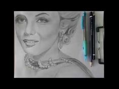 Speed drawing/ Marilyn Monroe - YouTube