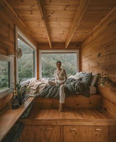 Dream Home Design, Tiny House Design, My Dream Home, Tiny House Cabin, Cabin Homes, A Frame House, Cozy Cabin, Cabin Tent, Aesthetic Bedroom