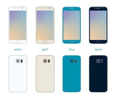 FLAT SAMSUNG GALAXY S6 Front and back view of Samsung Galaxy S6 in flat design, and four colors. 12 transparent PNG files included. #flat #samsung #galaxy #galaxys6 #smartphone #phone #black  #white #gold #blue #free #download #design #protium #protiumdesign #freebie #freebies