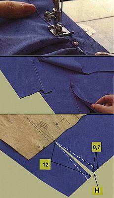 Разрез рукава | Обработка разреза рукава на рубашках, блузках