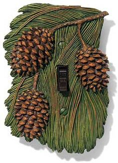 Pinecone Single Switch Plate