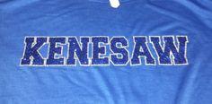 Kenesaw  - glitter vinyl - glitter heat press - apparel - t-shirt - tee shirt - design - screen print - screenprint - Kearney Nebraska - Shirt Shack