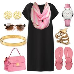 A fashion look from August 2014 featuring Uniqlo, Havaianas and lock bag. Browse and shop related looks. Infinity Scarf Outfits, Semi Casual, August 2014, Pink Stripes, Uniqlo, Spring Summer Fashion, Fashion Inspiration, Fashion Looks, Polyvore