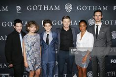 Robin Lord Taylor, Cameron Bicondova, David Mazouz, Benjamin McKenzie, Jada Pinkett Smith and Cory Michael Smith arrive at Fox's 'Gotham' finale screening event held at Landmark Theatre on April 28, 2015 in Los Angeles, California.